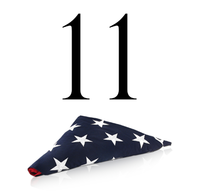 11 and Flag